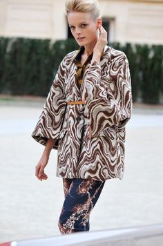 This Is How You Mix Pattern Only As Dries Van Noten Can And As Worn By Model Hanne Gaby Odiele