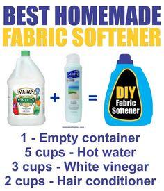 The best homemade diy fabric softener