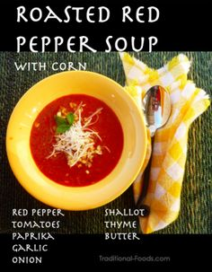 Roasted Red Pepper Soup @ Traditional-Foods.com
