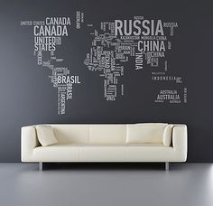 Fancy - a different world wall sticker by sunny side up | notonthehighstreet.com
