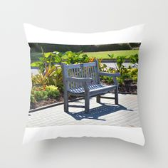 An Empty Bench Throw Pillow by Lanjee  http://society6.com/product/an-empty-bench-4ov_pillow