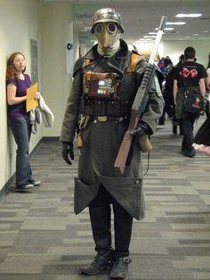 Warhammer Death Korps of Krieg cosplay Warhammer 40k Memes, Warhammer Art, Warhammer 40k Miniatures, Warhammer Fantasy, Warhammer 40000, Cool Costumes, Cosplay Costumes, 40k Imperial Guard, Alternate History