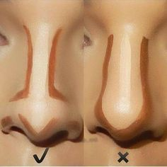 How to Contour Your Nose Right? Makeup Tricks Every Girl Should Know – Popcane How to Contour Your Nose Right? Makeup Tricks Every Girl Should Know How to Contour Your Nose Right? Makeup Tricks Every Girl Should Know – Popcane Facial Contouring Makeup, Face Contouring Tutorial, Highlight Contour Makeup, Contouring And Highlighting, Skin Makeup, Nose Makeup, Drugstore Contouring, How To Contour Nose, Makeup Brushes