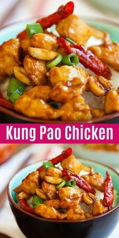 Kung Pao Chicken - tender and silky chicken stir-fry in mout.- Kung Pao Chicken – tender and silky chicken stir-fry in mouthwatering Kung Pao sauce, this recipe is better than Chinese takeouts Comida China Chop Suey, Healthy Recipes, Cooking Recipes, Healthy Chinese Recipes, Asian Food Recipes, Homemade Chinese Food, Asian Dinner Recipes, Asian Foods, Quick Recipes
