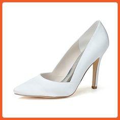 Fashionmore Women's Wedding High Heel Pumps White 11 US - Pumps for women (*Amazon Partner-Link)