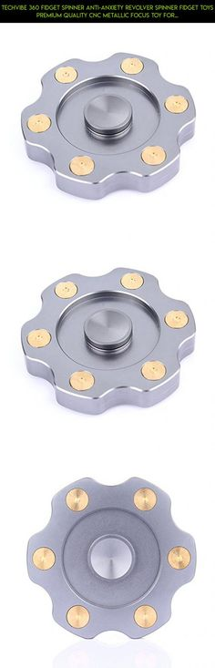 TechVibe 360 Fidget Spinner Anti-Anxiety Revolver Spinner Fidget Toys Premium Quality CNC Metallic Focus Toy for Kids & Adults - Stress Reducer Relieves ADHD Anxiety -Revolver Gear Grey #shopping #camera #gear #kit #spinner #drone #racing #gadgets #products #tech #plans #revolver #fpv #parts #technology