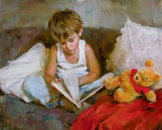 Wonderful World Painting by Michael Garmash - Wonderful World Fine Art Prints and Posters for Sale People Reading, Disney Fine Art, Disney Kunst, Beautiful Paintings, Oeuvre D'art, Artist At Work, Love Art, Wonders Of The World, Art For Kids