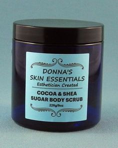 Cocoa & Shea Sugar Body Scrub -  Sweet Citrus -  226g/8oz - It smells so good that you might want to eat it.