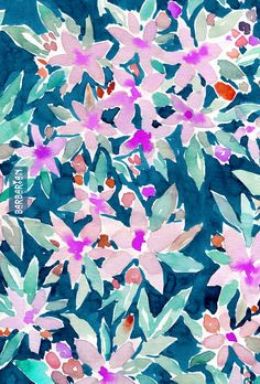 LET GO Tropical Watercolor Floral By Barbarian | This pink floral dances like it's on friggin' vacation. Let it all goooo. Click through to shop and download! #boho #print #pattern #watercolor