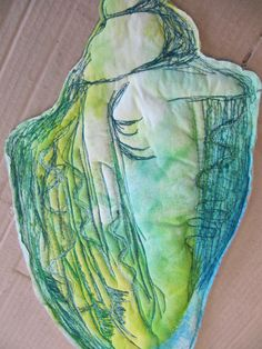 GCSE Machine embroidery on cotton – Animal Planet Free Motion Embroidery, Free Machine Embroidery, Sewing Art, Sewing Crafts, Man Vs Nature, Line Flower, Art Folder, Textiles Techniques, Sea Art