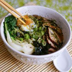 asian, bbq pork, bok choy, crock pot, crockpot, egg, green onions, japanese, miso, noodle bowl, noodles, poached egg, scallion, slow cooker,... #culturalpotluck