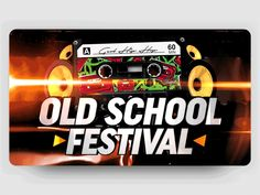 Advertising ▸ Old School Festival designed by GO AUDIOVISUAL. Connect with them on Dribbble; 3d Logo, Saint Charles, Peterborough, San Luis Obispo, Show And Tell, Old School, Advertising, Animation, Instagram