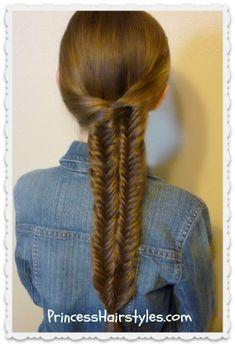 Double #Fishtail #Braid (Mermaid Braid) Hairstyle Tutorial