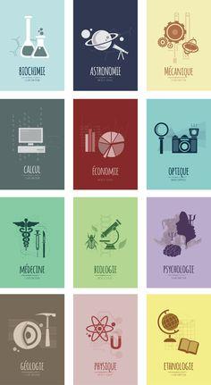 Culture Scientifique by Agnès Lépinay, via Behance