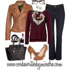 """Fall Style: Oxblood + Camel"" by sodrewrites on Polyvore"
