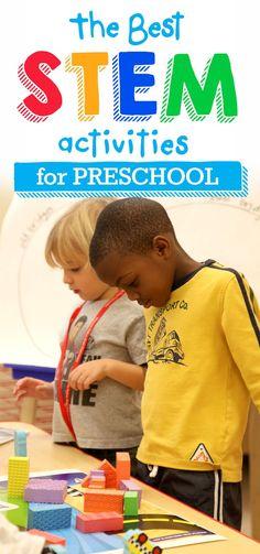 The best STEM activities for preschool! Kindergarten Science, Preschool Classroom, Preschool Learning, Science Activities, Stem Preschool, Steam For Preschool, Preschool Ideas, Toddler Activities, Classroom Ideas