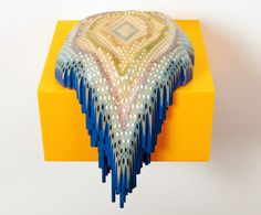 Remedios the Beauty: Australian artist Lionel Bawden has created these sculpture made of Staedtler coloured pencils. The colours and shapes remind me of strange organic lifeforms or geological treasures. Pencil Carving, Camouflage Patterns, Commercial Art, Color Pencil Art, Coloured Pencils, Arte Popular, Recycled Art, Islamic Art, Sculpture Art