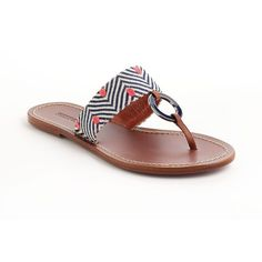 04ad9691cae1b A vibrant herringbone pattern defines these chic thong sandals from Missoni!