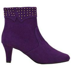 Annie Party Boots (Purple Velvet Suede) - Women's Boots - W Purple Love, Purple Lilac, All Things Purple, Purple Velvet, Purple Rain, Shades Of Purple, Mauve, Women's Boots, Bootie Boots