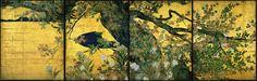 紅葉の襖絵、 長谷川等伯の楓図 (国宝、1592年頃、智積院、京都)  安土桃山時代の絵師、長谷川等伯(1539~1610)は、能登半島・七尾(石川県)の生まれで、はじめは、30年余り、信春と名乗り、能登の地方画家として仏画を中心に肖像画な...