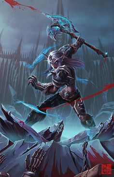 Night Elf Warrior slaying The undead Hate the undead *-*