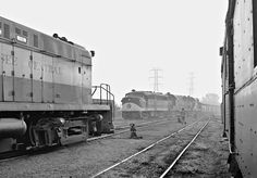 TC, Nashville, Tennessee, 1965 Tennessee Central Railway FA locomotive leads eastbound train out of Nashville, Tennessee, on foggy morning of June 1965. Photograph by J. Parker Lamb, © 2016, Center for Railroad Photography and Art. Lamb-02-023-08