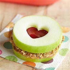 Sweetheart Apple Sandwich from Santa Cruz Organic®