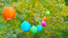 Love these solar powered string lanterns in colourful hues!