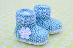 Knitting Pattern Only - Boot Style Twinkle-Twinkle Baby Booties