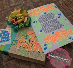 Hermosos detalles 💜 @dulceamor17 Hermosos desayunos, meriendas y anchetas sorpresa ...   Yooying Gift Bags, Boyfriend, Gifts, Surprise Gifts, Gift Boxes, Birthday Charts, Presents, Goody Bags, Treat Bags