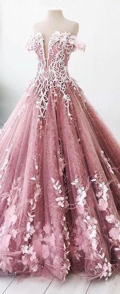 Gorgeous pink gown #luxurydotcom