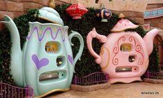 Teapot merchandise vending machines Tokyo Disneyland