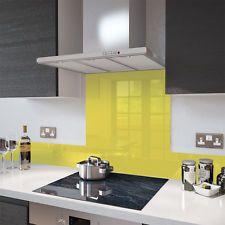 Premier Range Yellow Glass Splashback Heat Resistant - Toughened Glass