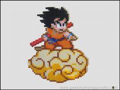 Son Goku on Kinto Un perler beads by GeekMythologyStudios on deviantart