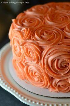 i heart baking!: thanksgiving birthday cake - pumpkin spice layer cake with browned butter cream cheese frosting piped roses