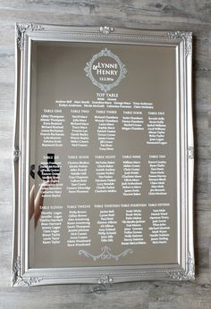 table plan mirror - Google Search