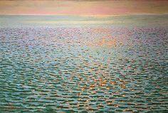 """""""Sparkling Sea"""" by Jeff Daniel Smith (oil 40x60)"""