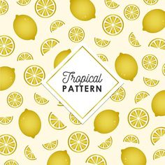 Tropical lemon pattern in golden color Free Vector Tropical Pattern, Color Dorado, Vector Photo, Displaying Collections, Golden Color, Pattern Design, Vector Free, Lemonade, Instagram