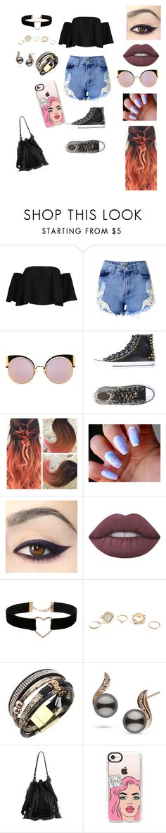"""Untitled #503"" by kau648156 ❤ liked on Polyvore featuring Boohoo, Fendi, PrimaDonna, Lime Crime, Miss Selfridge, GUESS, Loeffler Randall, Casetify, men's fashion and menswear"