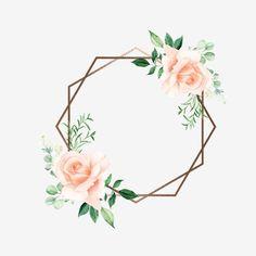 Frame Floral, Flower Frame Png, Flower Circle, Watercolor Flower Wreath, Watercolor Flowers, Flower Background Wallpaper, Flower Backgrounds, Flower Graphic Design, Logo Floral