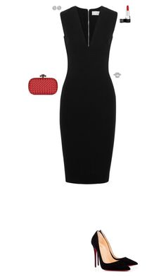"""""""Simple and chic"""" by stylev ❤ liked on Polyvore featuring Victoria Beckham, Bottega Veneta, Christian Louboutin and Allurez"""