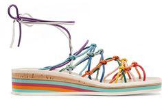 Sandales compensées en cuir Chloé