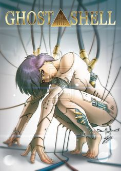 Cyberpunk, Anime, Robot, Cyborg, Female Bot, Ghost in the Shell