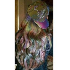 """Try to be a rainbow in someone's cloud"" #MayaAngelou. This new trend is called opal hair. Eek, I want! #motherofpearl #mermaidhair"
