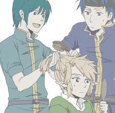Super Smash Bros. - Marth, Link, and Ike AWWWW sho cute :3