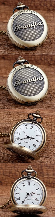 The Greatest Grandpa Bronze Quartz Pocket Watch Pendant! Click The Image To Buy It Now or Tag Someone You Want To Buy This For. #Grandpa