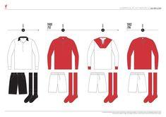 Liverpool FC Kit History, from 1892 to 2020 on Behance Liverpool Kit History, Liverpool Fc Kit, Soccer, Football, Behance, Logo, Futbol, Futbol, Logos