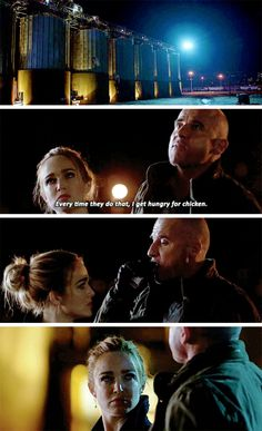 """""""Every time they do that, I get hungry for chicken"""" - Mick Legends Of Tommorow, Dc Legends Of Tomorrow, Supergirl 2015, Supergirl And Flash, Team Arrow, Arrow Tv, Dc Movies, Movie Tv, Dc Tv Series"""