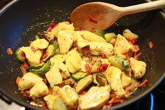 Indian spicy chicken wok sounds tasty.