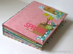 """Mini álbum """"Spring"""" encuadernado con brads   El Rincon de Arya"""